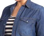 17 Sundays Women's Denim Shirt - Indigo  6