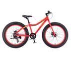 """Progear Kids' 24""""/60cm Beefy Fat Bike - Black w/Blue rims  1"""