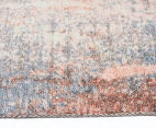 Emerald City 160x110cm Aglow Digital Print Soft Acrylic Rug - Orange/Multi 3