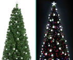 Artificial 2.1m LED 4-Colour Changing Optic Fibre Christmas Tree - Green 5