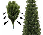 Artificial 1.8m Slim Christmas Tree - Olive Green 5