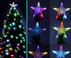 Artificial 2.1m LED 5-Colour Changing Optic Fibre Christmas Tree - Green 6