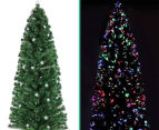 Artificial 2.4m LED Multi-Colour Changing Optic Fibre Christmas Tree - Green 5