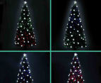 Artificial 2.1m LED 4-Colour Changing Optic Fibre Christmas Tree - Green 6