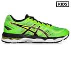 ASICS Grade School Kids' GEL-Kayano 23 GS Shoe - Green Gecko/Black/Safety Yellow 1