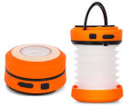 Mini Telescoping Crank Powered Camping Lantern - Orange 1