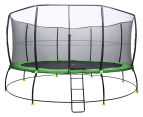 Lifespan Kids 16ft Spring Hyperjump Plus Trampoline with Steps - Black/Green 1