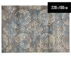Emerald City 220x150cm Himalaya Digital Print Soft Acrylic Rug - Grey 1