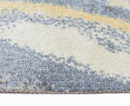 Emerald City 220x150cm Horizon Digital Print Soft Acrylic Rug - Blue 3