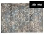 Emerald City 320x230cm Himalaya Digital Print Soft Acrylic Rug - Grey 1
