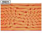 Red & Gold Zig Zags 90x59cm Canvas Wall Art 1