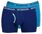 Mosmann Men's Boxer L-Leg Underwear 2-Pack - Blue/Arrows 1