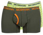 Mosmann Men's Boxer L-Leg Underwear 2-Pack - Green/Dots 1
