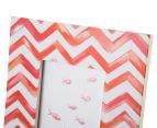 Painted Chevron 19x24cm Photo Frame - Red 4