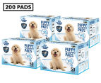 4 x Puppy Pet Dog Toilet Training Pads 50-Pack - Blue 1