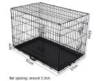 "Metal Collapsible 36""/91cm Dog Cage  2"