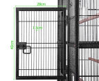 Pet Parrot 160cm Aviary Bird Cage with Wheels Stand - Black 3