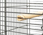 Parrot Pet Aviary Bird Open Roof Cage (145cm) - Black 4