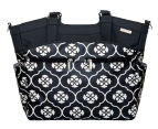JJ Cole Camber Nappy Bag - Black Floret 1