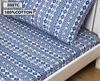 Living Textiles Baby 2-Piece Tribal Cot Sheet Set - Navy Blue 1