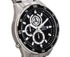 Casio Men's 50mm Edifice Chronograph Watch - Black/Silver 2