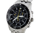 Citizen Men's 44mm Eco-Drive BL529059E Chronograph Watch - Silver/Black 2