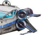 Worlds Apart 223x183x68cm Star Wars X-Wing Single Bed - Blue/Grey 2