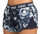 Bonds Women's Active Running Shorts - Navy/Floral 1