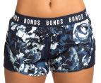 Bonds Women's Active Running Shorts - Navy/Floral 2