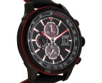Citizen 45mm Eco-Drive CA057608E Chronograph Watch - Black/Red 2