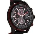 Citizen Men's 45mm Eco-Drive CA057608E Chronograph Watch - Black/Red 2