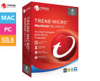 Trend Micro 1-Year 2016 Maximum Security 10 Software - 4 Devices 1