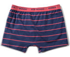 2 x Bonds Boys' Guyfront Trunk - Blue/Magenta 2