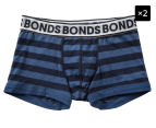 2 x Bonds Boys' New Era Fit Trunk - Blue Stripe 1