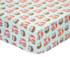 Little Cloud Clever Fox Fitted Cot Sheet - Multi 1