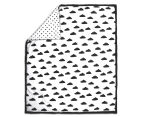 The Peanut Shell 112x94cm Clouds Quilt - Black/White 1