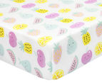 Little Cloud Fruit Fitted Cot Sheet - Pink/Multi 1