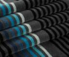 Bambury 75x150cm Dobby Velour Beach Towel - Graphite 2