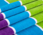 Bambury 75x150cm Dobby Velour Beach Towel - Rainbow 2