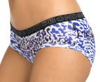 2 x Bonds Women's Boyleg/Hipster Brief - Blue/Black 3