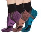 2 x Bonds Women's Size 3-8 Ultimate Comfort Socks 3-Pack - Black/Multi 1