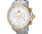 Swiss Military Men's 42mm Chronograph Watch - White/Silver/Gold 3