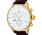 Swiss Military Men's 41mm Chronograph Leather Watch - Gold 3