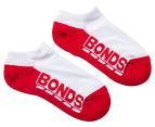Bonds Kids' Cushioned Sole Low Cut Socks 4-Pack - White 2