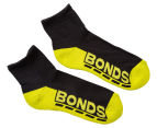 Bonds Kids' Quarter Crew Socks 3-Pack - Black/Multi 2