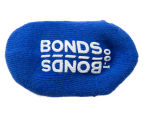 Bonds Baby Size 00-1 Logo Quarter Crew Socks 2-Pack - White/Blue 5