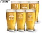 6 x Personalised Standard Beer Glass 285mL 1