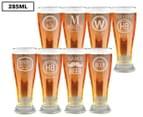 8 x Personalised Premium Beer Glass 285mL 1