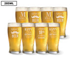 8 x Personalised Standard Beer Glass 285mL 1