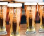 6 x Personalised Premium Beer Glass 425mL 5